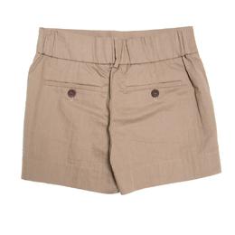 Brunello Cucinelli Beige Cotton Twill Elasticized Waist Shorts S