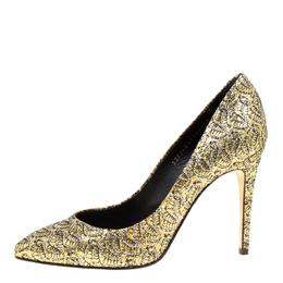 Gina Metallic Gold Glitter Pumps Size 40 163054