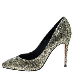 Gina Metallic Gold Glitter Pumps Size 38.5 165594