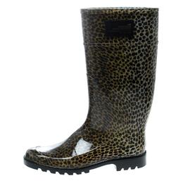 Dolce&Gabbana Animal Print Rubber Boots Size 41 166249