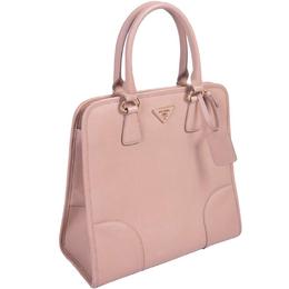 Prada Light Pink Saffiano Lux Leather Satchel Bag 297315