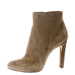 Gianvito Rossi Beige Suede Ankle Boots Size 42 Alexander McQueen 174488