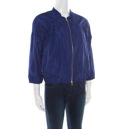 Miu Miu Cobalt Blue Windbreaker Zip Front Jacket S 176346