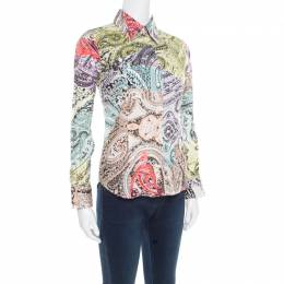 Etro Multicolor Paisley Printed Cotton Long Sleeve Shirt S 175787