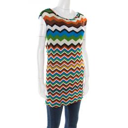 Missoni Mare Multicolor Chevron Pattern Knit Sleeveless Tunic S 177490