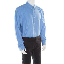 Ralph Lauren French Blue Cotton Logo Embroidered Button Down Shirt 2XB 177478