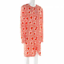 Stella McCartney Orange Heart Printed Shift Dress M 177509