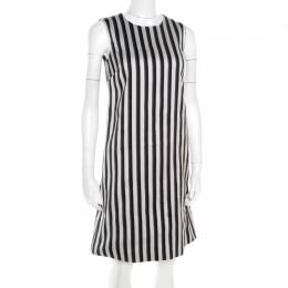 Dolce&Gabbana Monochrome Cotton Silk Striped Shift Dress XS 179958