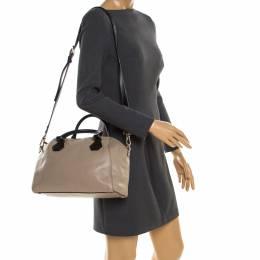 Kate Spade Beige/Black Leather Catherine Street Top Handle Bag 180697