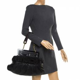 Fendi Black Leather To You Convertible Shoulder Bag 182604