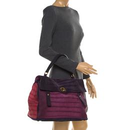 Saint Laurent Multicolor Nubuck Leather Large Muse Two Bag 183848