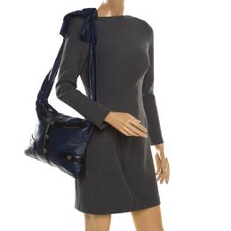 Chanel Blue/Black Leather Girl Shoulder Bag 186104