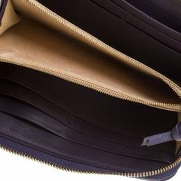 Bottega Veneta Purple Intrecciato Leather Zip Around Wallet 186139