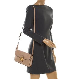 Miu Miu Beige Leather Flap Crossbody Bag 186968