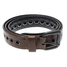 Bottega Veneta Brown Ring Hole Leather Belt 85CM 192866