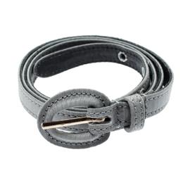 Oscar De La Renta Grey Fabric and Leather Belt One Size 192869