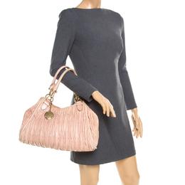 Bally Beige Matelasse Leather Shoulder Bag 185122