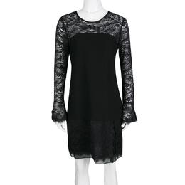 Diane Von Furstenberg Black Drop Waist Lavana Lace Dress M 135953