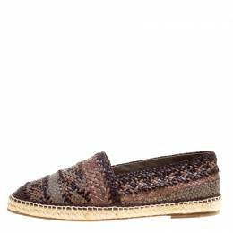 Dolce&Gabbana Bicolor Braided Leather Espadrilles Size 45 160600