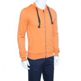 Dolce&Gabbana Orange Zip Front Hoodie XS 152508