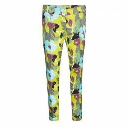 Etro Multicolor Floral Printed Cotton Trousers S 138489