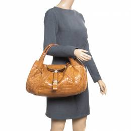 Fendi Brown Crocodile Spy Bag 168319