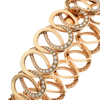 Montblanc Princesse Grace de Monaco Petal Intertwined Diamond 18k Rose Gold Bracelet 175810 - 1