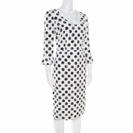 Dolce&Gabbana Monochrome Sphere Printed Midi Dress M 181782