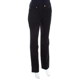 Escada Black Stretch Denim High Rise Straight Leg Tessa Jeans M 201146