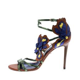 Jimmy Choo Metallic Multicolor Leather Lolita Strappy Sandals Size 38.5 201395