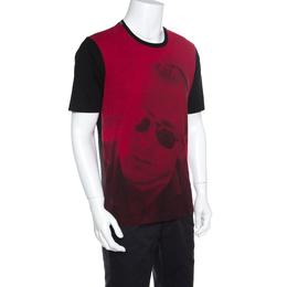 Dolce&Gabbana Red and Black Cotton James Dean Print T-Shirt M 157478
