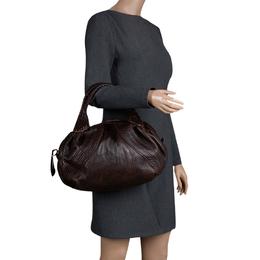 Fendi Dark Brown Leather Large Spy Bag 114270