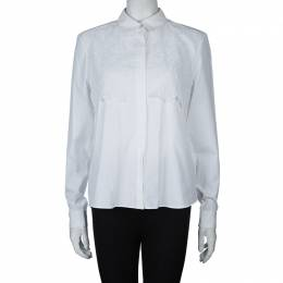 Peter Pilotto White Lace Detail Long Sleeve Eero Blouse M 60040