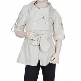 Scervino Street Girls Beige Trench Coat 6 Yrs Ermanno Scervino 56005