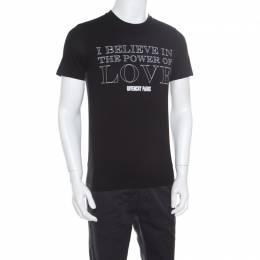 Givenchy Black Cotton Power Of Love T-Shirt XS 168254
