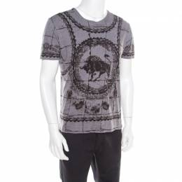 Dolce&Gabbana Grey Cotton Jersey Bull Print T-Shirt L 185943
