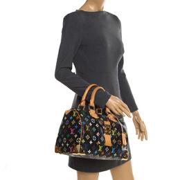 Louis Vuitton Black Multicolore Monogram Canvas Speedy 30 Bag 255727