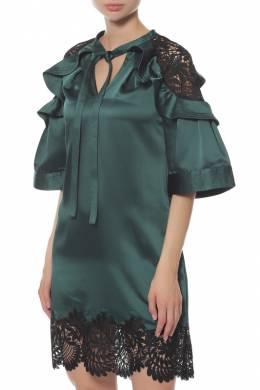 Платье Self-Portrait SP19-069G/GREEN