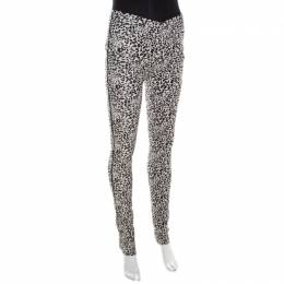 Zadig & Voltaire Monochrome Leopard Patterned Jacquard Pharell Leggings M 198715