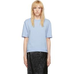 MCQ by Alexander McQueen Blue Taped Swallow Boyfriend T-Shirt 566893RNJ45