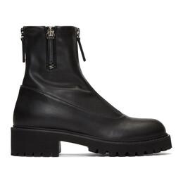 Giuseppe Zanotti Design Black Zip-Up Combat Boots I970020 82843