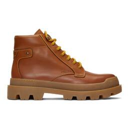 Prada Brown Hiking Boots 2TG145 LO9