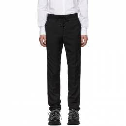 Lanvin Black Grosgrain Belt Slim-Fit Trousers RMTR0038A18