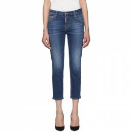 Dsquared2 Blue Cool Girl Cropped Jeans S75LB0229 S30664