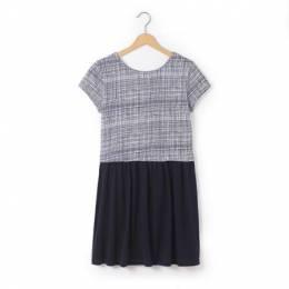 Платье из двух материалов 10-16 лет La Redoute Collections 16801381125645265000