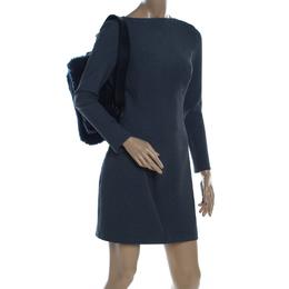 Furla Dark Blue Fur Caos Medium Shoulder Bag