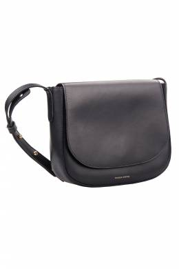 Mansur Gavriel Black Leather Crossbody Bag 201700