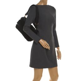 Furla Black Fur Caos Medium Shoulder Bag