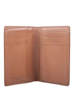 Bottega Veneta Brown Intrecciato Leather Bifold Card Case 201756