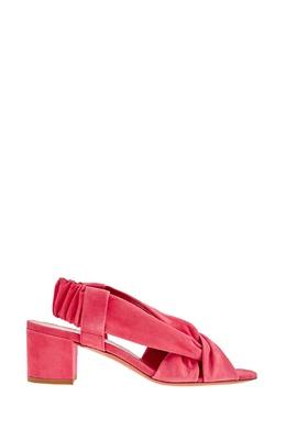 Розовые замшевые босоножки Santoni 1165137066